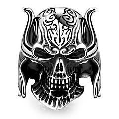 Кольцо Бижутерия Уникальный дизайн Мода европейский Сталь Бижутерия Черный Бижутерия Для Halloween Повседневные 1шт