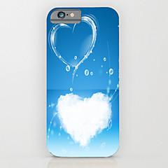Недорогие Кейсы для iPhone 6 Plus-Кейс для Назначение Apple iPhone 6 iPhone 6 Plus С узором Кейс на заднюю панель С сердцем Твердый ПК для iPhone 6s Plus iPhone 6s iPhone