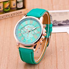 preiswerte Damenuhren-Geneva Damen Armbanduhr Armbanduhren für den Alltag Leder Band Freizeit / Modisch Schwarz / Weiß / Blau / Ein Jahr / Tianqiu 377