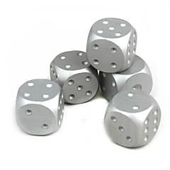 절묘한 알루미늄 합금 주사위은 5 개
