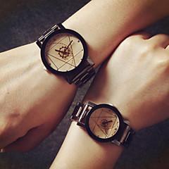 preiswerte Armbanduhren für Paare-Herrn / Damen / Paar Modeuhr Schlussverkauf Legierung Band Charme Silber / Gold / Ein Jahr / SSUO 377