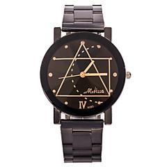 お買い得  大特価腕時計-男性用 リストウォッチ ユニークなクリエイティブウォッチ クォーツ カジュアルウォッチ ステンレス バンド ハンズ ブラック - ホワイト ブラック