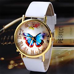 preiswerte Tolle Angebote auf Uhren-Damen Armbanduhr Quartz Schlussverkauf PU Band Analog Schmetterling Modisch Schwarz / Weiß / Braun - Weiß Schwarz Kaffee / Edelstahl