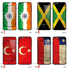 "iPhone 6/6S Body Art Skin Sticker: ""India, Jamaica, Turkey, Chile"" (Flags Series)"