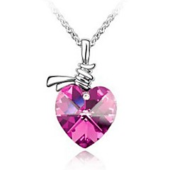 preiswerte Halsketten-Damen Kristall Anhängerketten - Krystall Rose, Grün, Blau Modische Halsketten Für Hochzeit, Party, Alltag