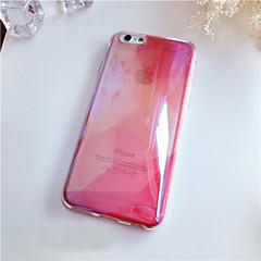 Для Кейс для iPhone 6 Кейс для iPhone 6 Plus Чехлы панели Полупрозрачный Задняя крышка Кейс для Сплошной цвет Мягкий Силикон дляiPhone 6s