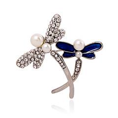 お買い得  ブローチ-女性用  -  真珠, 人造真珠, ラインストーン ぜいたく, ファッション ブローチ 用途 結婚式 / パーティー / カジュアル / イミテーションダイヤモンド