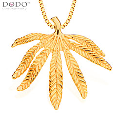 Fashion Leaves Pendant Men Jewelry 18K Gold Plated Chain Necklaces & Pendants Vintage Jewelry Women Gifts P30117