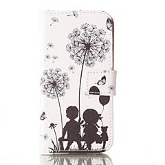 Для Кейс для iPhone 6 / Кейс для iPhone 6 Plus Кошелек / Бумажник для карт / со стендом Кейс для Чехол Кейс для Одуванчик Твердый