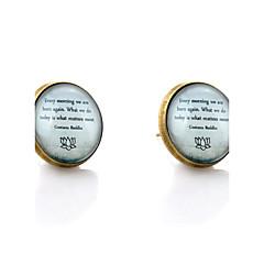 お買い得  イヤリング-スタッドピアス シンプルなスタイル 初期ジュエリー 合成宝石類 ガラス 合金 ジュエリー 結婚式 パーティー 日常 カジュアル