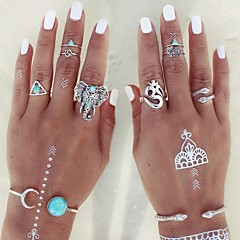 Women's Statement Rings Knuckle Ring Fashion Personalized Adjustable Costume Jewelry Alloy Animal Shape Triangle Shape Jewelry For Party
