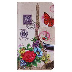 Для Кейс для Sony Бумажник для карт / Кошелек Кейс для Чехол Кейс для Эйфелева башня Твердый Искусственная кожа для SonySony Xperia X