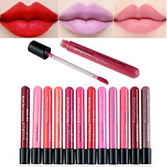 Lipglosses Våd Mat Flydende Fugt Dekning Længerevarende Vandtæt Naturlig Hurtig Tørre Åndbart Tilgængelig Farve Flerfarvet 1 ##