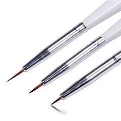 3pcs de color lápiz de uñas de la herramienta del arte del clavo del dibujo del sistema