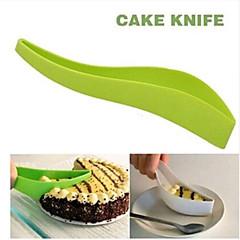 praktische cake snijder gereedschap cake taart snijmachine velgeleider mes taart mes sneed een stuk keuken gadget willekeurige kleur