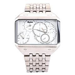 お買い得  メンズ腕時計-男性用 リストウォッチ クォーツ 3タイムゾーン ステンレス バンド ハンズ チャーム シルバー / ゴールド - ゴールドとブラック シルバーとブラック ホワイト / シルバー 2年 電池寿命 / SOXEY SR626SW