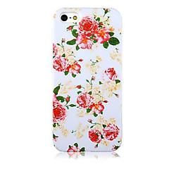 Недорогие Кейсы для iPhone 5с-Кейс для Назначение Apple Кейс для iPhone 5 С узором Кейс на заднюю панель Цветы Мягкий ТПУ для iPhone X iPhone 8 Pluss iPhone 8 iPhone 7