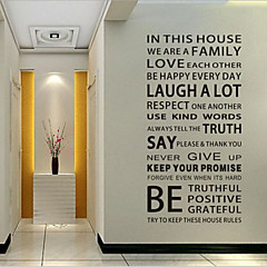 cheap Wall Art-Decorative Wall Stickers - Words & Quotes Wall Stickers Words & Quotes Living Room / Bedroom / Dining Room / Removable