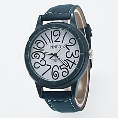 お買い得  メンズ腕時計-男性用 リストウォッチ カジュアルウォッチ / / PU バンド カジュアル ブラック / グリーン / グレー