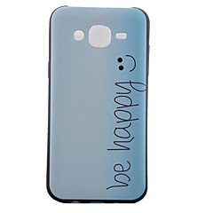 For Samsung Galaxy Case Pattern Case Back Cover Case Word / Phrase TPU Samsung J5 / J1 / Grand Prime / Core Prime