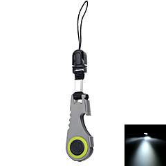 fura kültéri többfunkciós rozsdamentes acél kulcsfontosságú eszköz üvegnyitó&zseblámpa - szürke