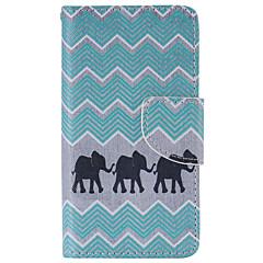 Varten Sony  kotelo / Xperia Z5 Lomapkko / Korttikotelo / Tuella / Flip Etui Kokonaan peittävä Etui Elefantti Kova Tekonahka varten Sony