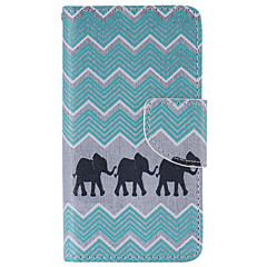billige Etuier til Sony-For Sony etui / Xperia Z5 Pung / Kortholder / Med stativ / Flip Etui Heldækkende Etui Elefant Hårdt Kunstlæder for SonySony Xperia X