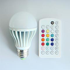 E26/E27 Lampadine globo LED A60(A19) 3 LED ad alta intesità 550 lm Colori primari RGB K Controllo a distanza Decorativo Oscurabile