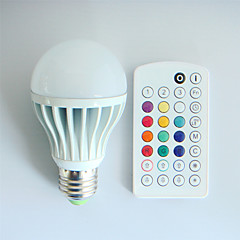 E26/E27 LED-globlampor A60(A19) 3 lysdioder Högeffekts-LED Bimbar Ljudaktiverad Fjärrstyrd Dekorativ RGB 550lm RGBK AC 100-240V