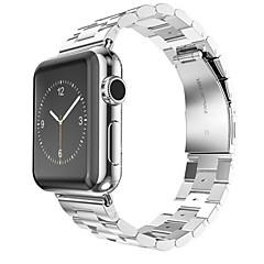 halpa Apple Watch-hihnat-Watch Band varten Apple Watch Series 3 / 2 / 1 Apple Rannehihna Butterfly Buckle Ruostumaton teräs