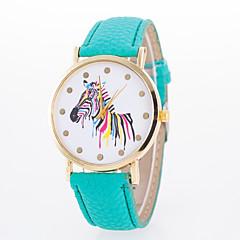 preiswerte Tolle Angebote auf Uhren-Damen Armbanduhr Armbanduhren für den Alltag PU Band Modisch / Elegant Schwarz / Weiß / Blau / Ein Jahr / Jinli 377