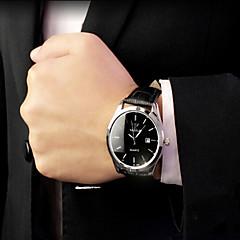 お買い得  メンズ腕時計-男性用 リストウォッチ クォーツ ブラック / ブラウン 30 m 耐水 カレンダー 光る ハンズ エレガント - ブラック / ホワイト ブラック ブラウン / ホワイト 1年間 電池寿命 / ステンレス / KC 377A