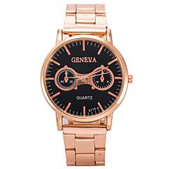お買い得  メンズ腕時計-男性用 リストウォッチ ローズゴールドめっき / 合金 バンド ローズゴールド