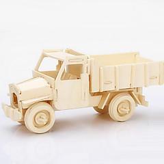 3D-puzzels Legpuzzel Houten puzzels Speelgoedauto's Constructievoertuig Speeltjes Vrachtwagen Stuks