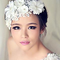 結婚式のパーティーのための女性のレースのクリスタルパールカチューシャ額の髪の宝石