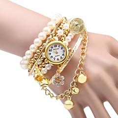JUBAOLI Dames Modieus horloge Armbandhorloge Kwarts Legering Band Glitter Parels Zilver Goud Goud Zilver