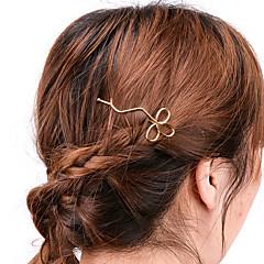 Women Casual Handmade Hollow Clover Hair Clips Alloy Hair Accessories 1pc