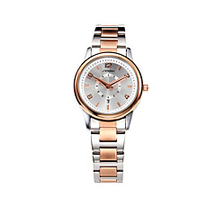preiswerte Tolle Angebote auf Uhren-SINOBI Damen Armbanduhr Kalender / Wasserdicht Legierung Band Freizeit / Modisch / Elegant Rotgold / Zwei jahr / Sony SR626SW
