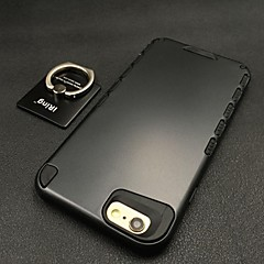 Для Кейс для iPhone 6 Кейс для iPhone 6 Plus Чехлы панели Кольца-держатели Бампер Кейс для Сплошной цвет Твердый PC дляiPhone 6s Plus
