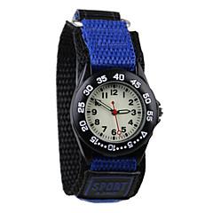 preiswerte Damenuhren-Armbanduhr Quartz Armbanduhren für den Alltag Cool Stoff Band Analog Modisch Blau / Grau / Lila - Grau Purpur Blau Ein Jahr Batterielebensdauer / Tianqiu 377