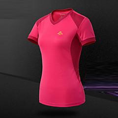 여성용 하이킹 T-셔츠 통기성 땀 흡수 기능성 소재 티셔츠 탑스 용 캠핑 & 하이킹 등산 레저 스포츠 사이클링/자전거 달리기 여름 S M L XL XXL