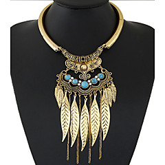 cheap Necklaces-Women's Statement Necklace  -  Tassel, European, Fashion Gold, Silver Necklace For