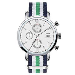 お買い得  大特価腕時計-SINOBI 男性用 リストウォッチ クォーツ 耐水 カレンダー クロノグラフ付き ステンレス バンド ハンズ チャーム グリーン - グリーン