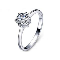 お買い得  指輪-女性用 ステートメントリング  -  銀メッキ ワンサイズ 用途 パーティー