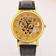 preiswerte Tolle Angebote auf Uhren-Herrn Armbanduhr Quartz Armbanduhren für den Alltag Leder Band Analog Schwarz / Braun / Grau - Gray und Weiß Schwarz / weiss Goldenschwarz