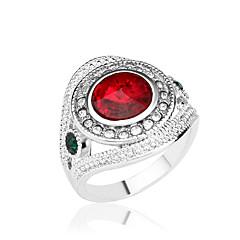 preiswerte Ringe-Damen Statement-Ring - Diamantimitate, Aleación Luxus, Modisch Schmuck Rot / Grün / Blau Für Party Alltag Normal 7 / 8 / 9 / 10 / Strass