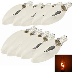 preiswerte LED-Birnen-10 Stück 1.5W 96-112lm E14 LED Kerzen-Glühbirnen C35 1 LED-Perlen Hochleistungs - LED Dekorativ Rot 220-240V / 85-265V