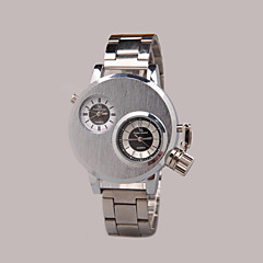 cheap Watch Deals-Men's Quartz Wrist Watch Casual Watch Alloy Band Charm Black Silver