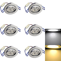 olcso Beltéri lámpák-6db 3 W 300-350 lm Nincs Süllyesztett izzók 3 led Nagyteljesítményű LED Dekoratív Meleg fehér Hideg fehér AC 110-130V AC 220-240V AC