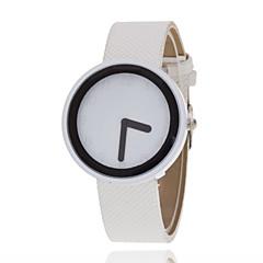 preiswerte Tolle Angebote auf Uhren-Damen Quartz Modeuhr Armbanduhren für den Alltag Modisch PU Band Freizeit Schwarz Weiß Rot Braun Gelb